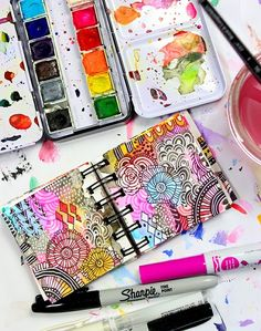 Alisaburke: a peek inside my mini art journal Art Journal Pages, Art Journal Backgrounds, Drawing Journal, Art Journaling, Art Journal Covers, Kunstjournal Inspiration, Art Journal Inspiration, Journal Ideas, Smash Book