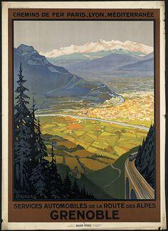 Title: Grenoble. Services automobiles de la route des Alpes Creator/Contributor: Broders, Roger, 1883-1953 (artist) Created/Published: Paris : Les imprimeries Daude Fréres Date issued: 1910-1959 (approximate)