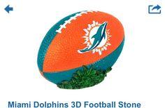 Miami dolphins stone football