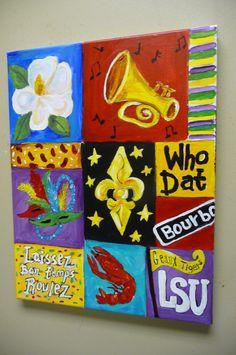 Geaux Tigers LSU Fleur De Lis Louisiana by evesjulia12 on Etsy, $68.00