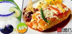 Gaby's Restaurant Bar- $99 en lugar de $290 por 1 Sopa del Día ó 1 Ensalada Gaby's + 1 Burrito Gigante de Arrachera + 1 Margarita ó 1 Limonada. Click: CupoCity.com