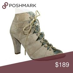Suede Lace Front Shoe Bootie Suede Lace Front Shoe Bootie.. Price is Firm Shoes