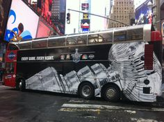 2012 Stanley Cup Playoffs bus in New York City