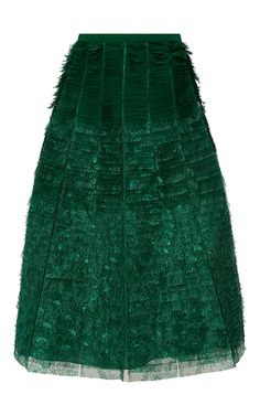 Multi Layered Embroidered Skirt by ROCHAS for Preorder on Moda Operandi