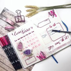 """924 Me gusta, 7 comentarios - Bullet Journal & Beauty (@lacqueredworld) en Instagram: """" Planning Day ¡ ! . . #opozulo #oposiciones #lettering #opozuleando #studytime #tombow…"""""""