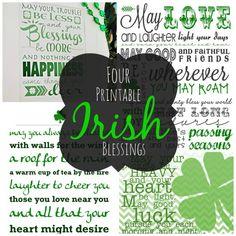 Four Printable Irish Blessings #StPatricksDay #IrishBlessing