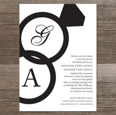 The Rings - Wedding Invitations
