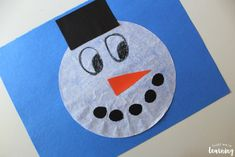 Coffee Filter Crafts for Kids: Coffee Filter Snowman Craft - Look! We're Learning! Coffee Filter Crafts, Coffee Filters, Snowman Crafts, Christmas Crafts, Crafts For Kids To Make, How To Make, Kids Crafts, Led Board, Marble Painting
