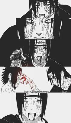 Sasuke and itachi Itachi Uchiha, Naruto Shippuden Sasuke, Wallpaper Naruto Shippuden, Naruto Wallpaper, Boruto, Sasuke Sarutobi, Otaku Anime, Anime Naruto, Naruto Art