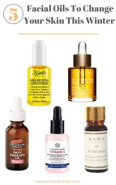 All skin types oily dry combination mature sensitive needs facial oils & serums. Read my list of 5 Facial Oils to change your skin game this winter! Oily Skin Care, Skin Care Tips, Beauty Care, Beauty Skin, Dry Skincare, Skincare Routine, Korean Skincare, Skin Care Routine For 20s, Skin Routine