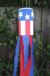 Activities: Fourth of July Patriotic Streamers.  these are so easy, your preschooler or kindergartener can make them.  If making a lot with a group, and you don't have enough oatmeal boxes, have each child make a small one with a paper cup.