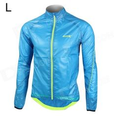 Santic MC07003B Men's Ultrathin Anti-UV Water Resistant Dacron Cycling Jacket Coat - Bluee (Size L) Price: $30.20