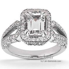 Anna Lab Diamond Engagement Ring - WOW! $1,257 - http://www.lab-diamonds.com/anna-engagement-ring.html