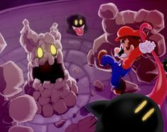 Versus the Bouldergeist - ahahaha I remember the first time I had to beat it... and then on daredevil mode..
