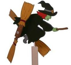 19-W1231 - Witch Whirligig Woodworking Plan.