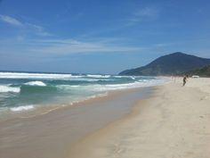 Praia de Maresias em São Sebastião, SP