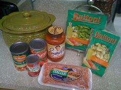 Bean Pot Cheesy Chicken Tortellini 1-2 jars marinara sauce 2 15oz cans petite diced tomatoes or 1 large can) 1lb Italian ground sausage 1 large pack Buttoni Tortellini 1 small pack Buttoni Tortellini 1 small can tomato paste cook and brown Italian sausage place into Bean Pot along with all other ingredients. Mix very well! Put all tortellini straight from package into Bean Pot. Mix Well. Put lid on Bean Pot and place in 375 oven for 45min. add mozzarella cheese on top when serving and add a…