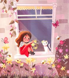 First illustration of Hope the year ahead will be bright! Art And Illustration, Character Illustration, Illustration Children, Cartoon Illustrations, Cartoon Kunst, Cartoon Art, Time Cartoon, Cartoon Characters, Anime Art Girl