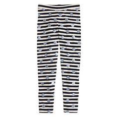 Girls' everyday leggings in stripe and glitter dot