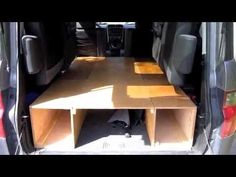 Brilliant and simple modular sleeping system for Honda Element, with room for storing skis + other gear underneath