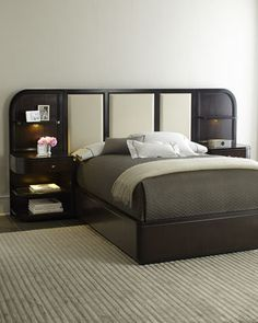 """""""Savion"""" Queen Bed with Nightstand..."""