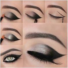 How to DIY Shimmery Gray Smokey Eye Makeup | www.FabArtDIY.com LIKE Us on Facebook ==> https://www.facebook.com/FabArtDIY