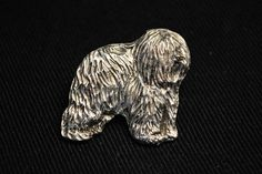 Polish Lowland Sheepdog dog pin limited by ArtDogshopcenter