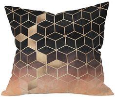 Ombre Cubes Throw Pillow #decor #design