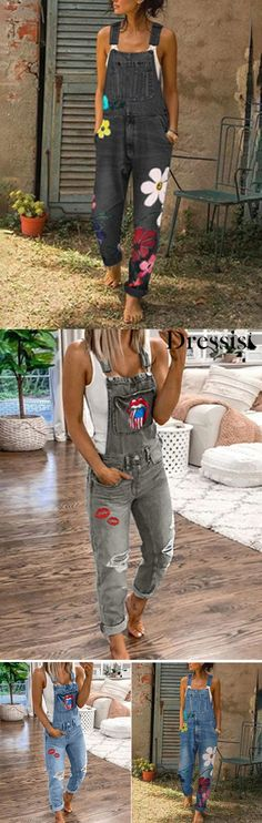 Floral Denim Jumpsuit On Sale Buy 2 Get OFF Buy More Save More Go to Dressisi to check more discount Beauty Tips, Beauty Hacks, Slip On Tennis Shoes, Boho Fashion, Fashion Outfits, Floral Denim, Denim Jumpsuit, Hippie Outfits, Bohemian Style