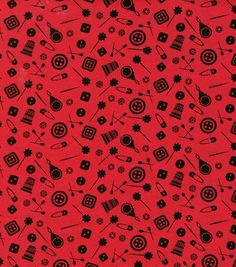Novelty Cotton Fabric- Notions Scatter