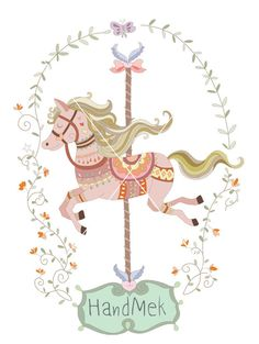 Carousel clipart ,Carousel doodle clip art EPS,PNG,JPEG file -300 dpi January 06, 2015 at 04:38PM