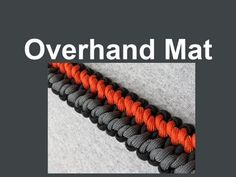 """How to make an Overhand Mat Paracord Bracelet (5/8"""" buckle)"""