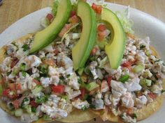 mexican tostadas de Ceviche <3
