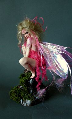 Pink Painted Faerie by Nicole West