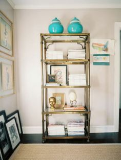 Antique Brass Etagere