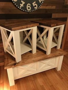 Farmhouse Furniture Pictures – Modern Home Farmhouse Coffee Table Sets, Diy Coffee Table, Coffee Set, Coffee Mugs, Coffee Shops, Diy End Tables, Wood End Tables, Small End Tables, Furniture Making