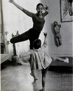 Dancing round the living room with the kids