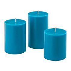 NYKÄR Pöytäkynttilä, 3 kpl IKEA Läpivärjätty kynttilä säilyttää kauniin värinsä koko paloajan. 4,99