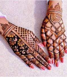 Can't get over the beauty of bridal Mehndi Designs for full hands? This full hand mehndi design with a mix of Indian and Arabic mehndi images is perfect for you! Get Amazing Collection of Full Hand Mehndi Design Ideas here. Simple and Easy Modern full.