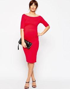 ASOS Maternity | ASOS Maternity Bardot Dress with Half Sleeve at ASOS