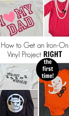 How to Get An Iron-On or Heat Transfer Vinyl Project Right the FIRST Time