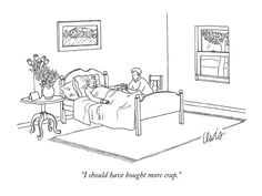 """""""I should have bought more crap."""" - New Yorker Cartoon Poster Print by Eric Lewis at the Condé Nast Collection"""