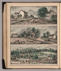 Res. of Wm. H. Barton & Richard Barton ; Mount Pleasant ; Residence of D. Graham - David Rumsey Historical Map Collection