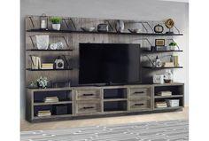 Built In Shelves Living Room, Living Room Storage, Living Room Tv, Living Spaces, Tv Wall Shelves, Shelving Brackets, Display Shelves, Parker House, Living Room Entertainment Center