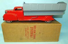 1980 Toys, Dump Truck, Toy Trucks, Vintage Toys, 1940s, Addiction, Times, Antique, Steel