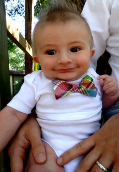 Special Plaid Bow Tie Onesie for Canada by HaddonCo on Etsy, $15.00