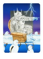 The Commander (Emperor) from the Snowland Tarot (art by Ron Boyer) http://SnowlandTarot.com