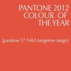 2012 Color of the Year! Love it!