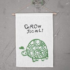NEW * Grow Slowly wall hanging (limited edition) - Mogu Takahashi  by Fine Little Day  * www.the-pippa-and-ike-show.com
