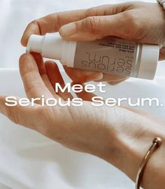 Awaken your skin with Serious Serum! The perfect blend of Serious Serums facial grade AHAs, BHAs, green tea, and chamomile will blast breakouts and create the perfect glow! ✨ #skincare #acne #antiaging #beauty Serious Serum, Lighten Dark Spots, Facial Serum, Salicylic Acid, Ingrown Hair, Pimples, Skincare, Glow, How To Apply